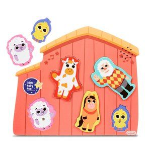 Little Baby Bum Old MacDonald's Farm 5 Piece Wooden Puzzle with Sound